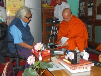 U Win Tin with Sayadaw U Wirathu